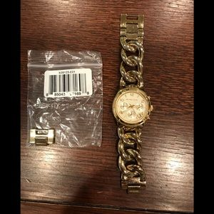 Michael Kors chain link bracelet watch